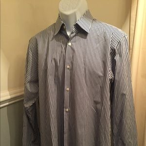 Hugo Boss Navy/Light Blue Button Down Dress Shirt